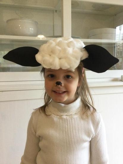 Tabitha as the sheep.