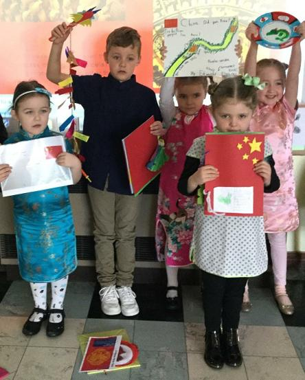 The winners of the Chinese project- well done!
