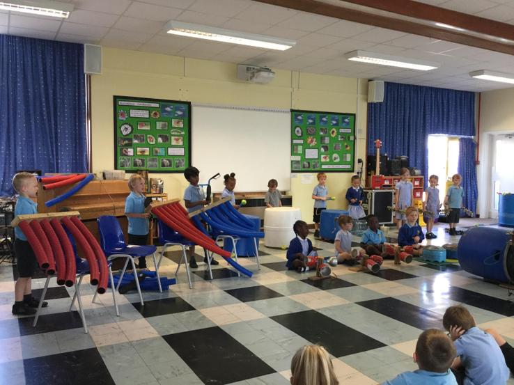 Everyone enjoyed playing the instruments!