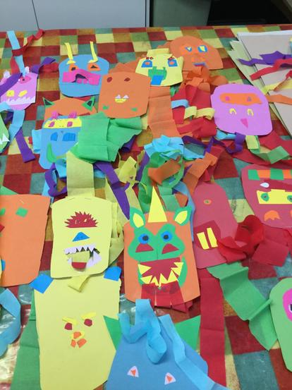 Colourful Chinese dragons