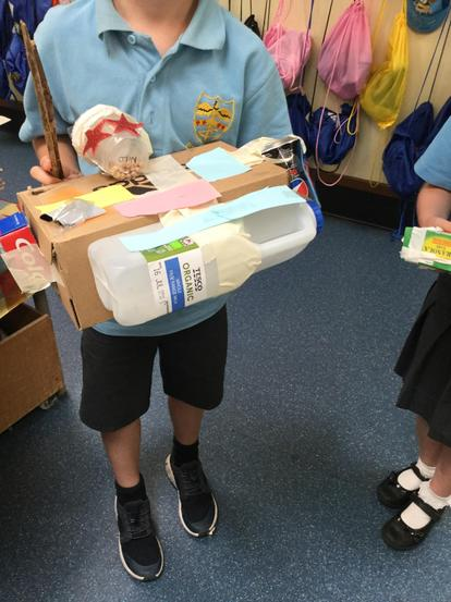 We even made our own instruments at home