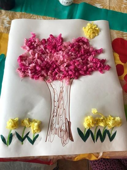 Poppy's Tissue Paper Collage