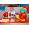 Blue class display for Chinese New Year