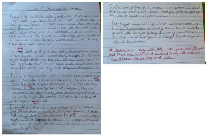 An excellent range of sentence starters Xander
