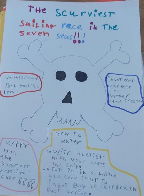 Jake's piratey poster