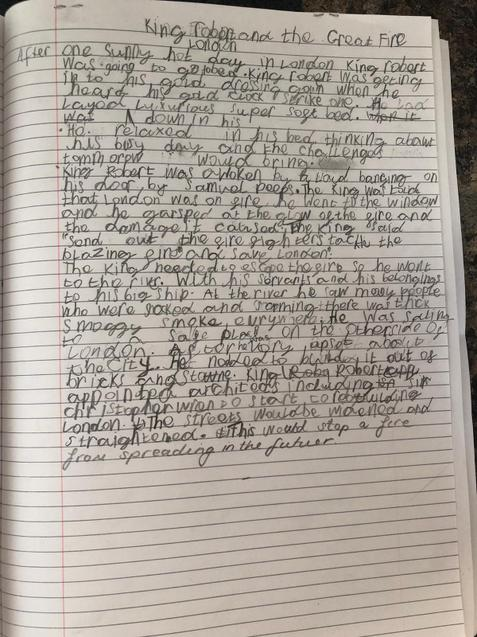 Evan's super writing