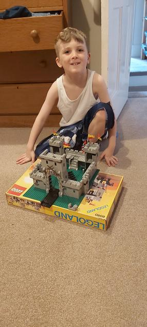 J made a castle out of Lego