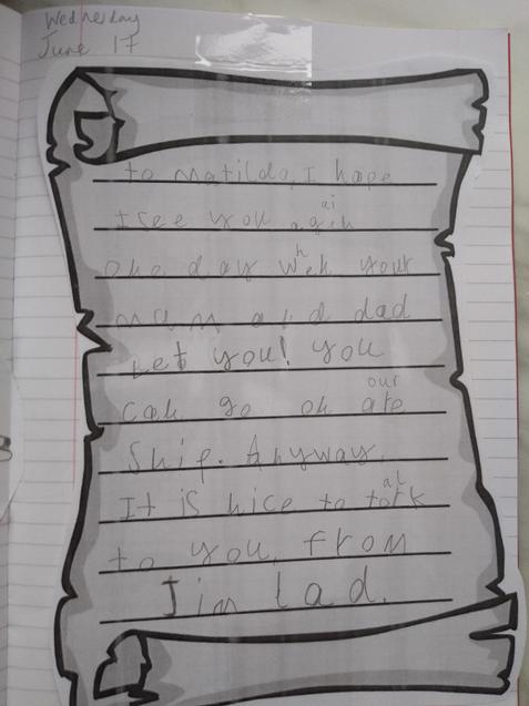 Louis' fantastic letter
