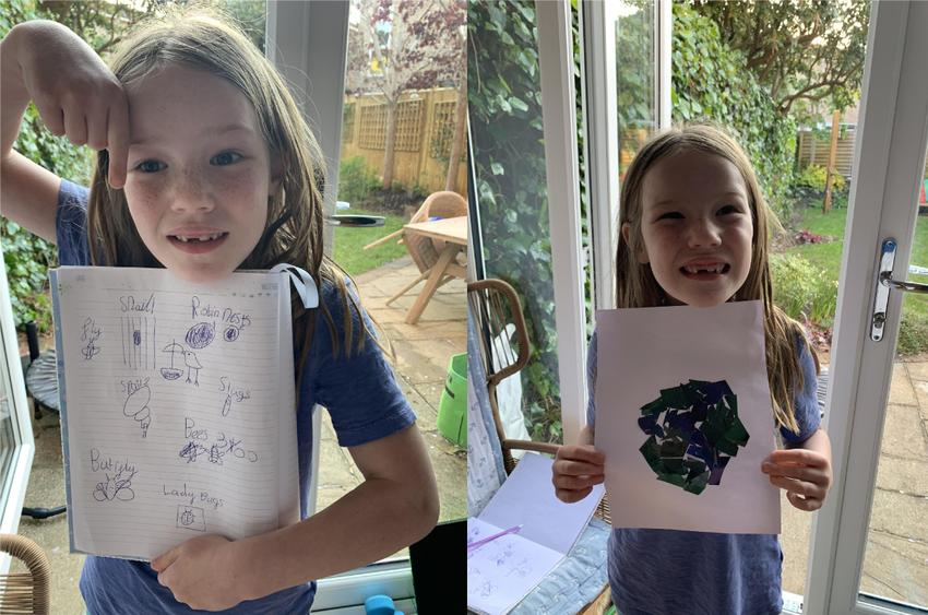 E's Earth Day Collage and Creature Spotting