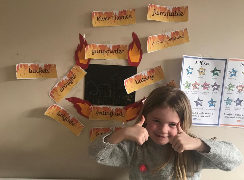 H made a super display with 1666 houses & vocab