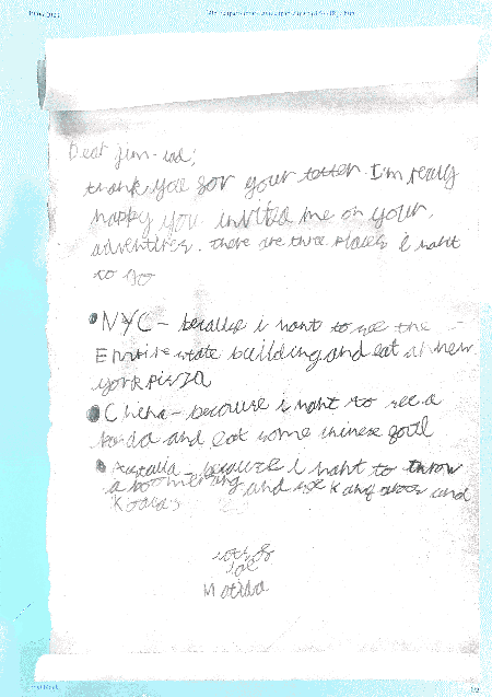 Woody wrote a letter about where to go next!