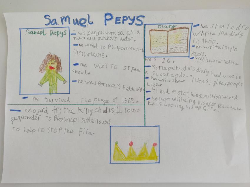 Olivia's Samuel Pepys Poster