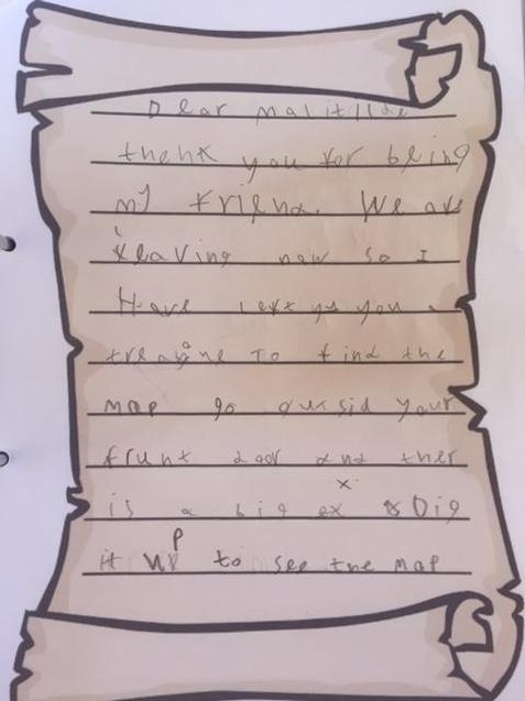 Elizabeth's letter from Jim-Lad
