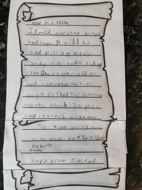 Sam's super letter writing