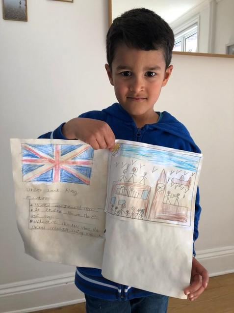 N made a tea stained newspaper.