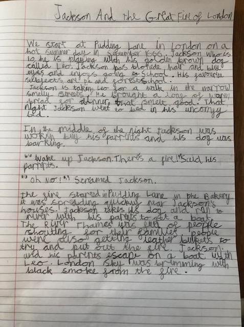 Maddie's beautiful handwriting.