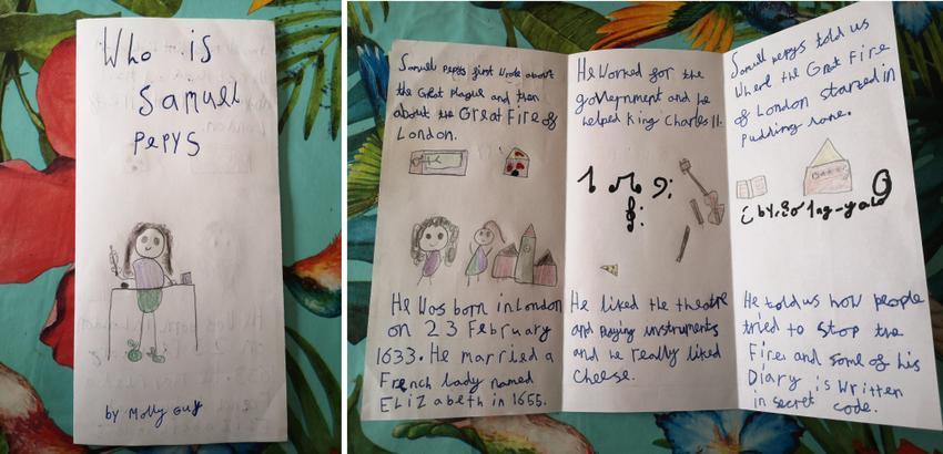 Molly's beautiful Samuel Pepys leaflet