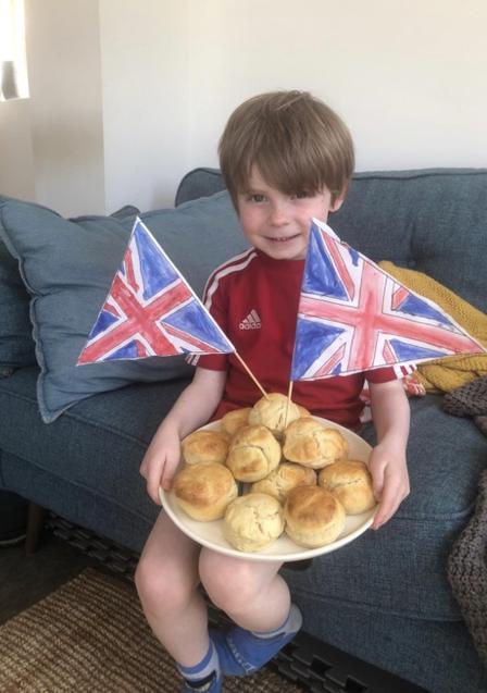 Very patriotic scones.