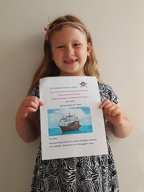 S's great poster for the great pirate race