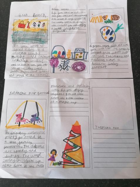 Jasmine's very colourful leaflet