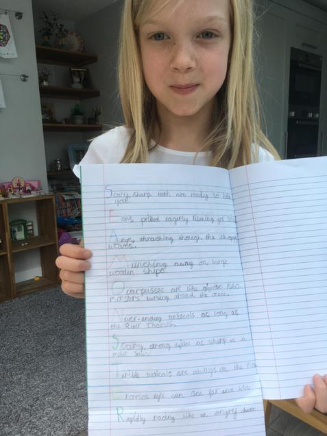 J wrote a fantastic acrostic poem.