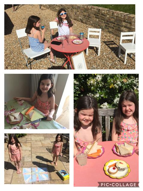 A sunny VE Day garden party!