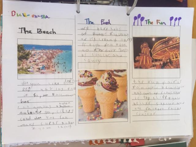 Elizabeth's colourful leaflet!