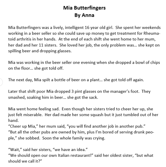 Mia Butterfingers 1 by Anna