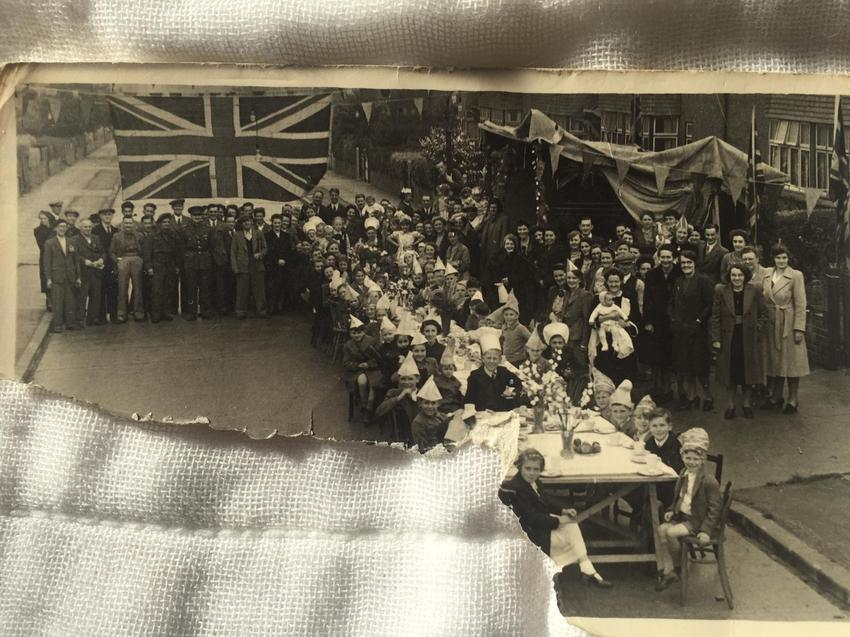 Taken 8 May 1945 - L's relatives are in the photo