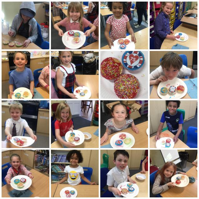 The children in school made lovely cakes.