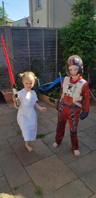S had a Star Wars Day to replace his Disney trip.