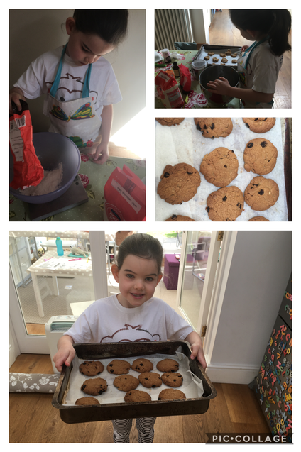 A making some lovely cookies