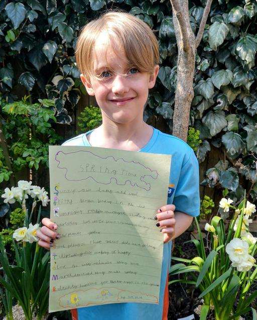 S and his super spring time poem