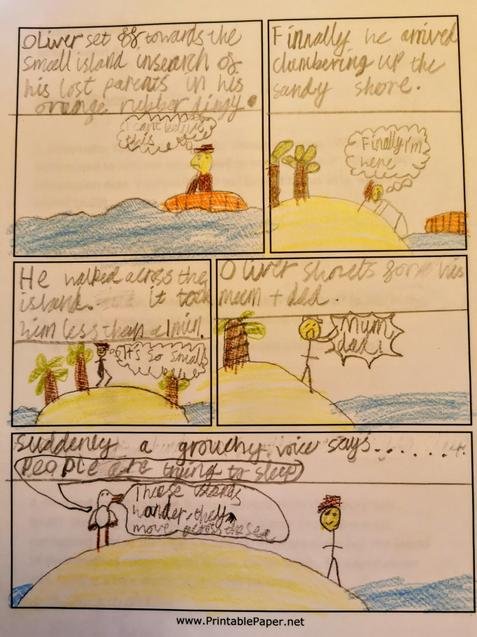 Adverbials, thought/speech bubbles, ellipsis. Yes!