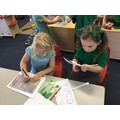 Exploring mark making tools