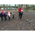 Sponsored mile - even at forest school!