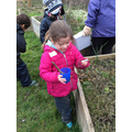 Using our noses to smell different plants