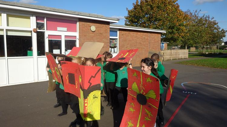 We practised marching in formation