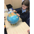 Looking at globes