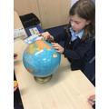 Looking at globes