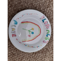 Florence designed a plate for Lockdown 2020!