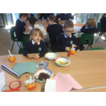 Making our Christingle oranges