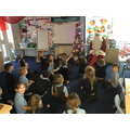 Father Christmas visited Class 1!