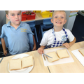 We learnt how to make sandwiches for the tea party
