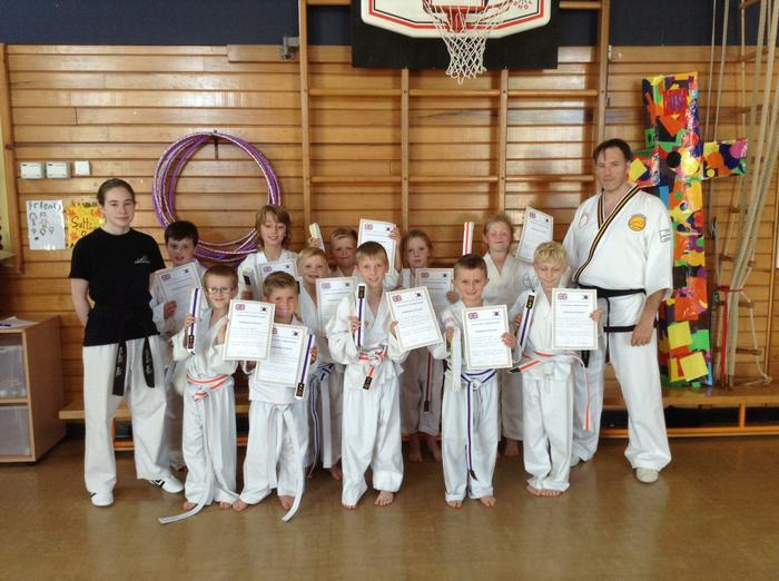 New grading for our Martial Arts Stars. Well done