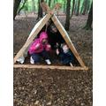 Tent building