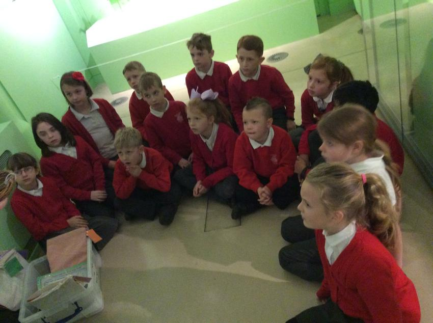 Discovering ancient objects in the museum.