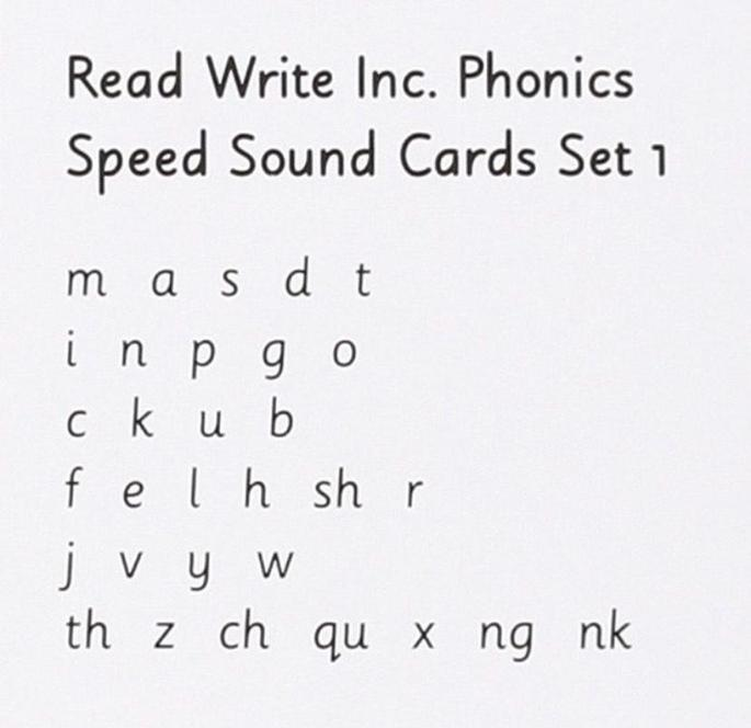 Reception children learn these and Set 2 sounds