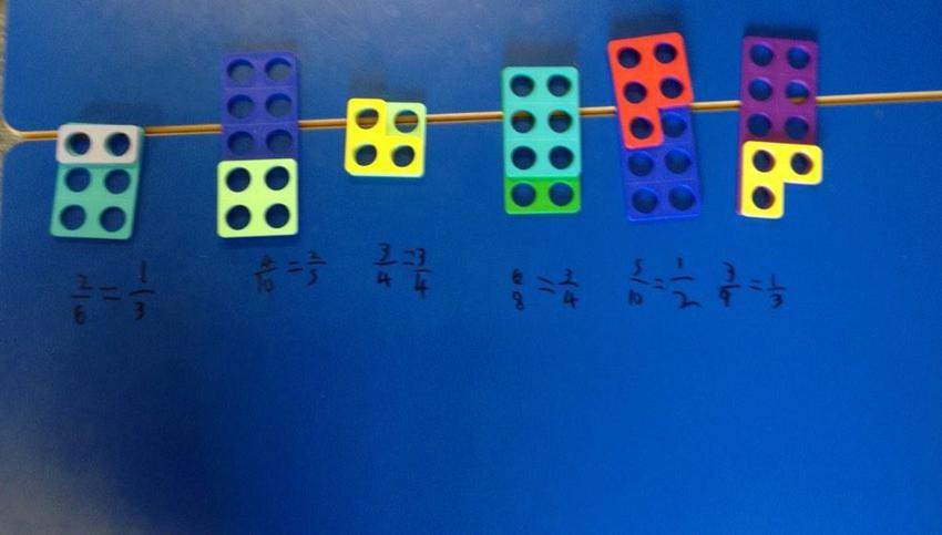 representing fractions with numicon