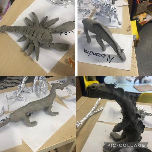 Clay added to armature.